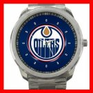 Edmonton Oilers Hockey Silvertone Sports Metal Watch 32903745