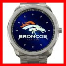 Denver Broncos Silvertone Sports Metal Watch 32903749