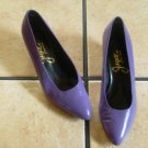 Vtg. Joyce Purple Distressed Leather Classic Dress Shoes