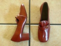 VTG. CORRECT STEP ANTIQUE BROWN LEATHER GRANNIE SHOES