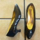 VTG. STEFANI BLACK SEQUINS/SATIN CLASSIC DRESS SHOES