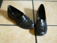 CLARKS BLACK LEATHER BUTTON DRESS LOAFER SHOES