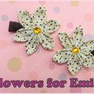 Coffee Kanzashi Hair Clips