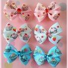 Cupcake Bitsy Bows (3 pairs)