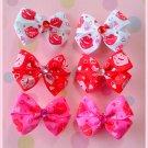 Kisses Bitsy Bows (3 pairs)