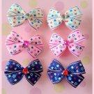 Stars Bitsy Bows (3 pairs)