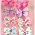 Lollipop Bitsy Bows (4 pairs)