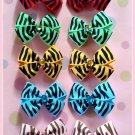 Zebra Bitsy Bows (5 pairs)