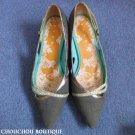 Stylish B + AB hong kong brand green trendy pointed toe small heel shoes - UK4.5