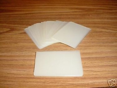 100 LAMINATING  LAMINATOR POUCHES BUSINESS CARD SIZE