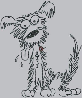 1834 Dog in line art