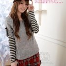 [RU-851781] Grey Top :|With Scarf|: