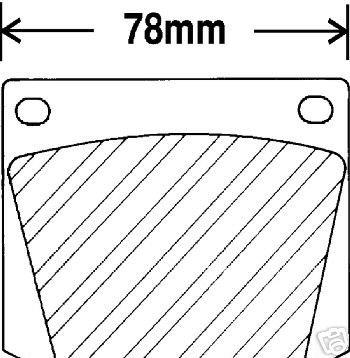 TRIUMPH TR6 TRIUMPH GT6 TRIUMPH TR250 MGC CAPRI ROVER BRAKE PADS METALLIC PREMIUM SET FRONT
