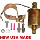 MARINE FUEL PUMP ELECTRIC UNIVERSAL 30gph 5psi -9psi UNIVERSAL EXTERNAL INLINE NEW USA MADE