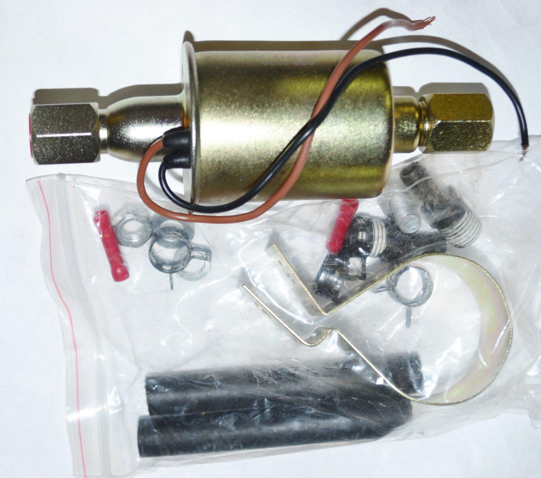 ELECTRIC FUEL PUMP CAR TRUCK DIESEL FUEL or GASOLINE 4 BARREL 35gph 10psi-14psi