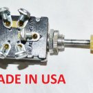 UNIVERSAL Headlight Switch 6 Volt 3 Position Push Pull 5 Terminal MADE IN USA