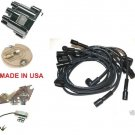 BUICK 1967-1974 V8 DISTRIBUTOR CAP ROTOR POINTS CONDENSER SPARK PLUG WIRES