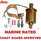 MARINE ELECTRIC FUEL PUMP 5psi-9psi 5/16 Coast Guard Approved EXTERNAL Pump