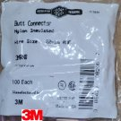3M 3MRNB Red Nylon Butt Connector 22-18 Gauge Package of 100