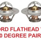 FORD FLATHEAD V8 THERMOSTAT 160 DEGREE PAIR OF 2 THERMOSTATS 21/8x7/8x25/32