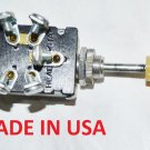6 Volt Headlight Switch 3 Position Push Pull  5 screw terminals MADE IN USA