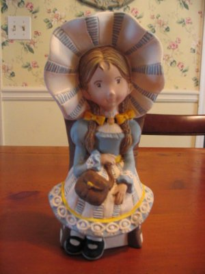 Hand Painted and Antiqued Holly Hobbie Figurine