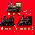 STEAM TRAIN LOCOMOTIVE REALISTIC SOUND KEYCHAIN, Mexican Domino SET OF 3 TRAINS