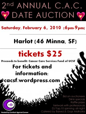 2nd Annual C.A.C. Date Auction Ticket