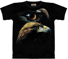 The Mountain Golden Eagle Collage T-shirt  Med-XXXL Free shipping