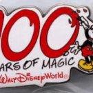 2 Walt Disney World 100 YEARS OF MAGIC Pins Cast Press
