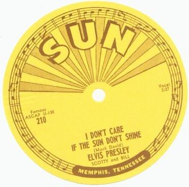 ORIGINAL 1954 Elvis Presley 45 record SUN Label UNUSED