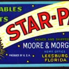 6 OLD Florida Vegetables Fruits Crate Labels STAR PAK