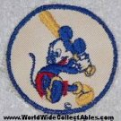 1940s Bond Bread WWII Disney MICKEY MOUSE BASEBALL PATCH white background
