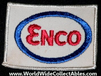 ORIGINAL OLD Enco Gas Oil Station Employee Patch Pocket Sleeve Hat