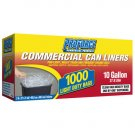 Clear Commercial Can Liners  ( 1000ct  - 10 Gal. )