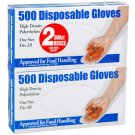 500 Disposable Gloves  (2 Pack / 500 ct. each)