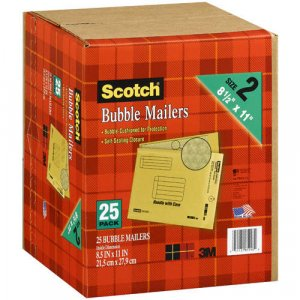 Scotch Size 2 Bubble Mailers (25 pack)