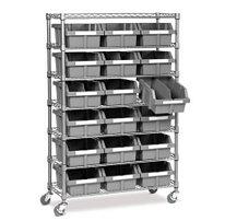 7-Tier Steel Bin Shelf Rack
