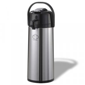 Stainless Steel Coffee / Tea Air-Pot with Lever  (4 Pack / 2.2 L)