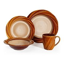 Mirabello - 16-Piece Stoneware Dinnerware Set