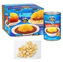 Skyline Chili® - Cincinnati Chili  (4 Pack / 15 oz. cans) w/ Skyline Oyster Crackers (3 / 6oz.)