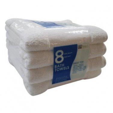 White Bath Towels  (8ct)