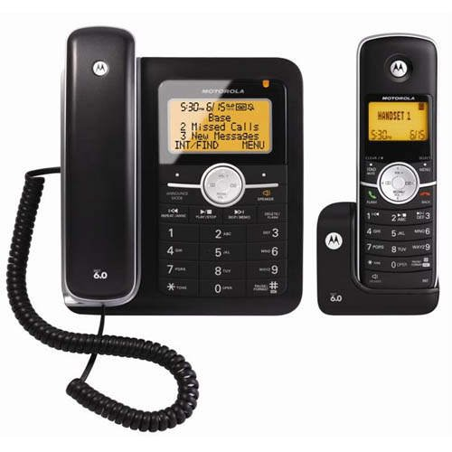 DECT 6.0 Cordless/Corded Phones with Answering System L402C by Motorola.