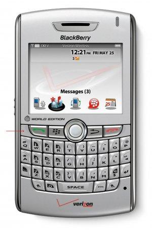 Verizon WorldPhone Blackberry 8830 by RIM with OEM Holster
