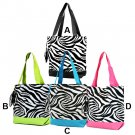 Zebra damask polka dots peace sign houndstooth canvas bags