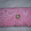 Pink John Deere wipes case