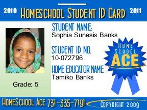 Free 2010 Student Homeschool ID Badge set. Field Trip & Wallet ID included.