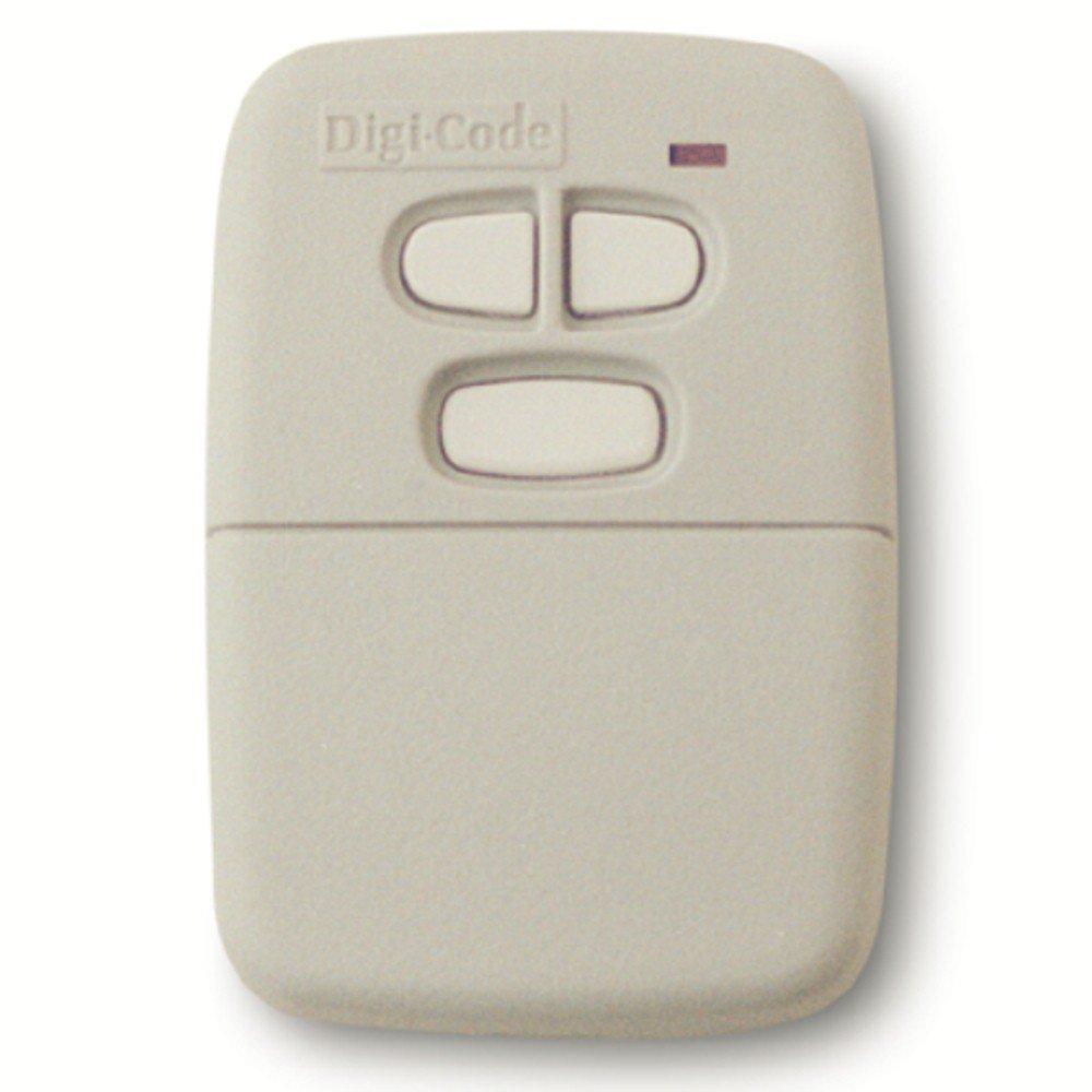 Digi Code 5030 Multi Code Compatible 3 Button, 10 Code Switch Gate or Garage Door Opener Remote