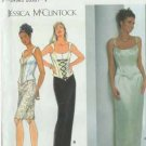 Designer evening after five prom formal dress pattern sz 4-6-8