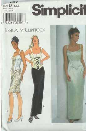 Designer evening after five prom formal dress pattern sz 4-6-8